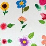 9 Flores Bordadas con Hilo paso a paso