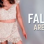 Top y Falda arena a crochet paso a paso