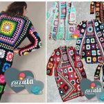 Abrigo de grannys tejido a crochet