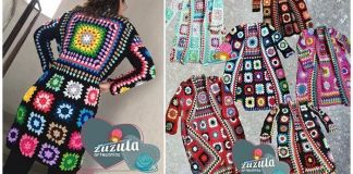 Abrigo de granny's tejido a crochet