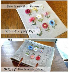 Como bordar flores a mano paso a paso