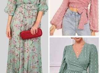 Blusa peplum, top o vestido largo con patrones