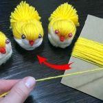 DIY Pollitos con lana paso a paso