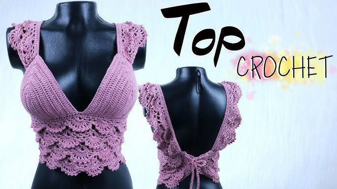 DIY Top a crochet de abanicos paso a paso