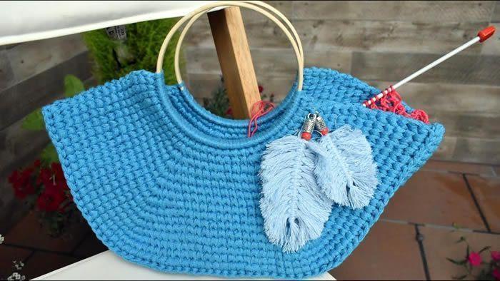 Capazo a crochet para tus labores