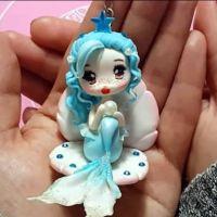 Muñeca Piscis en porcelana fría paso a paso