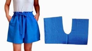 DIY shorts o pantalones cortos fruncidos en la cintura