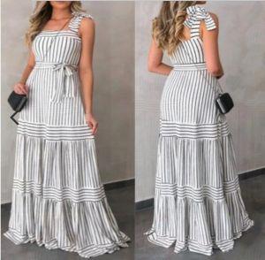 Vestido para el verano de tirantes con patrones