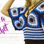 Blusa a crochet modelo ojitos paso a paso