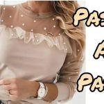 Blusa elegante de manga larga patrón y confección