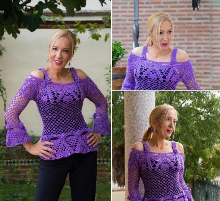 Blusa Frida a crochet DIY paso a paso