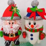 Dulceros Navidad Papá Noel y Muñeco de Nieve