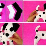 DIY Perro con calcetines paso a paso