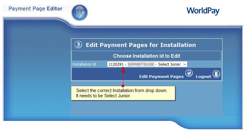 SelectInstallation