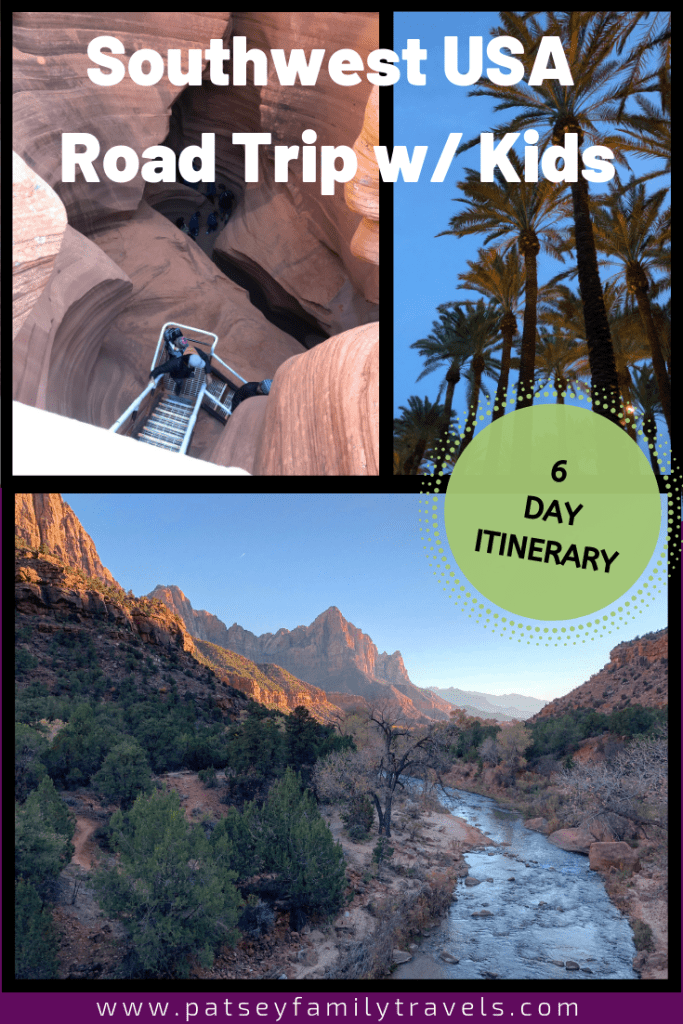 Southwest Road Trip Itinerary for Families #familytravel #grandcanyon #southwestUSA #roadtrip #southwestroadtrip #zion #pageAZ #sedona #arizona #nationalpark #grandcanyon