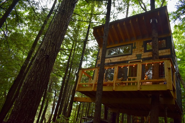 Stone City Treehouse #vermont #treehouse #glamping