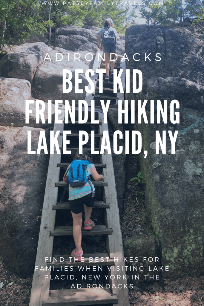 Lake Placid HIking for Families Adirondacks NY #hiking #hikewithkids #hikingfamily #adirondacks #lakeplacid #iloveNY  #upstateNY #newyorkstate #hikeNY #hikeadirondaks #hikeitbaby