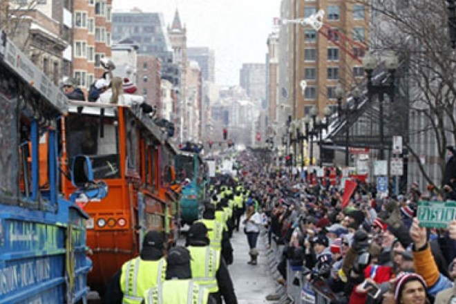 "Flashback Friday: Ty Law Remembers The Patriots First Super Bowl Parade and Rally ""Dance Off"""