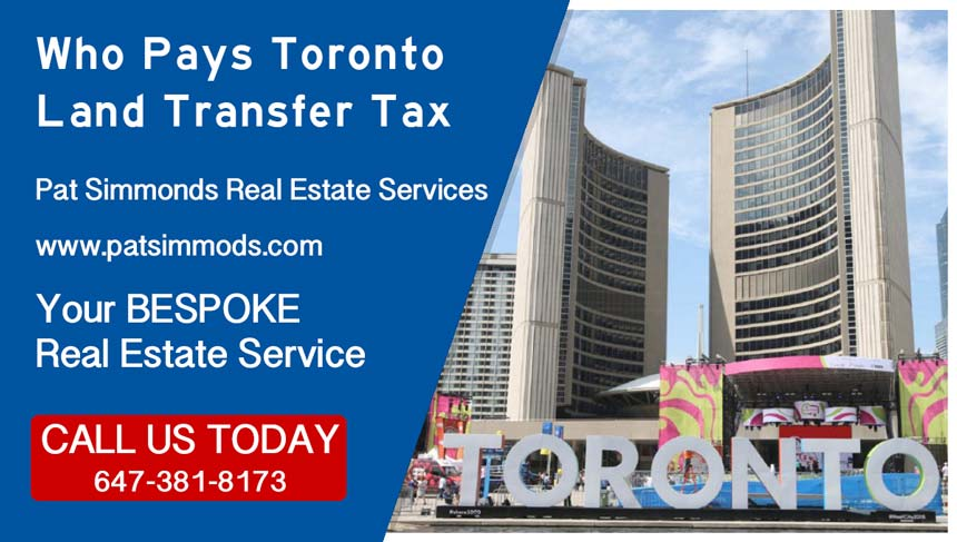 Who Pays Toronto Land transfer Tax