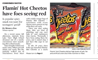 High School Addiction: Flamin' Hot Cheetos   Pat's Picks