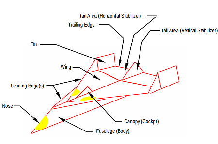 paper airplane diagram of parts 2003 silverado bose radio wiring air plane