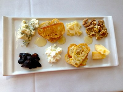 A beautiful cheese plate adds to the celebratory nature of champagne.