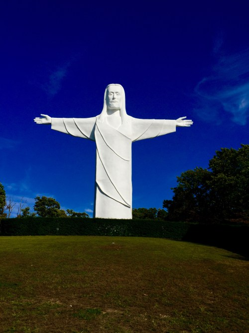 The Christ watches over the Arkansas Ozarks.