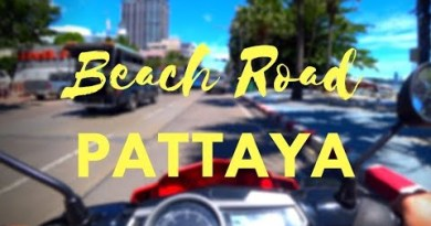 Drive along Beach Road in Pattaya Thailand on a sunny day in 4K