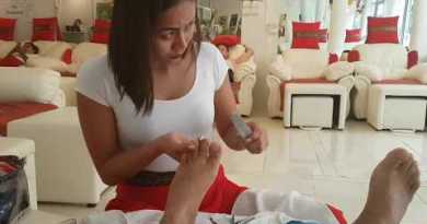 Beautiful Thai girl Pedicure, Pattaya, Thailand
