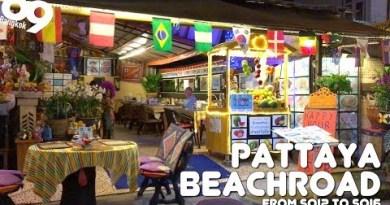 PATTAYA BEACH ROAD / Night walk from Soi2 to Soi6