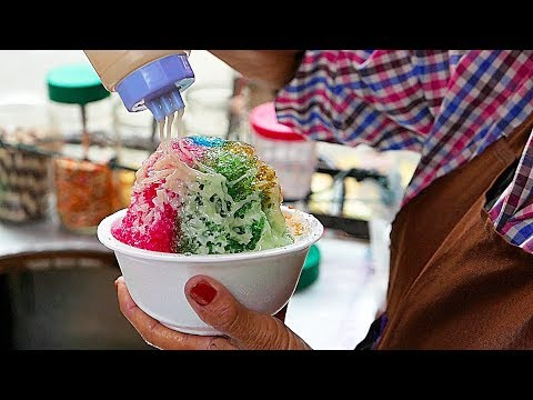 Bangkok Road Meals – RAINBOW SHAVED ICE DESSERT Thailand