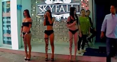 Pattaya, Walking Avenue. A Hurry-Hurry ladies from Bakkara, Palace, Nui's Membership 2, Sensations, Skyfall