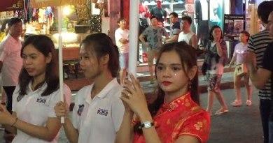 Pattaya strolling aspect street Thai lady and ladyboy 2019 Feb