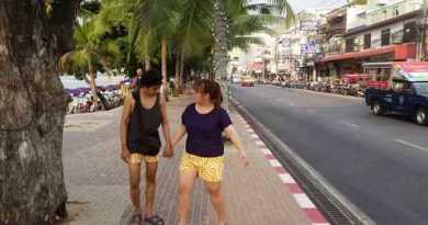 Strolling in Excessive Season by Pattaya Seaside  Avenue at 5:00 PM Pattaya Seaside