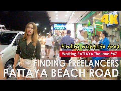 Discovering Freelancers Pattaya Seaside Twin carriageway at Evening Section 1- Walking Pattaya #47