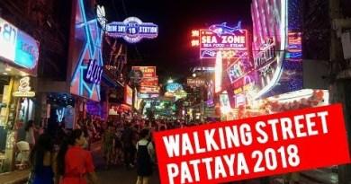 Walking Avenue Pattaya 2018 – Night Lifestyles