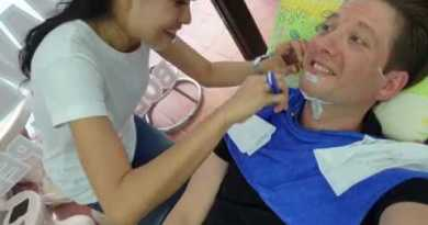 $3 STRAIGHT RAZOR Shave in PATTAYA Thailand by Sis at Trend Barber Soi Buakow