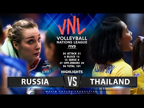 Russia vs Thailand | Highlights | Girls folk's VNL 2019