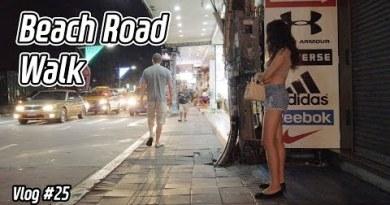 Pattaya Seaside Avenue On Friday After Nighttime