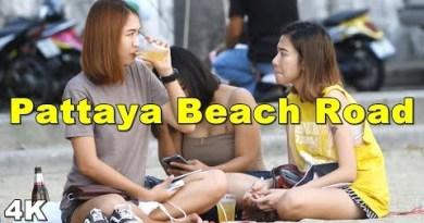 (4K) Pattaya Beach Twin carriageway -Day Scenes(Vlog #071)