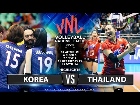 Korea vs Thailand | Highlights | Girls's VNL 2019