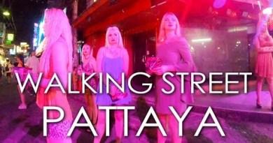 Pattaya Strolling Avenue Nightlife Paunchy Version 2019