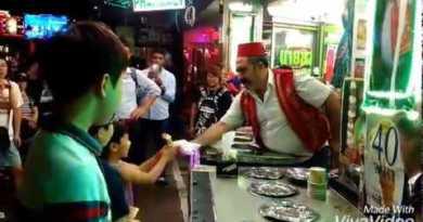 Turkish IceCream In Pattaya Walking Road !! World Illustrious !!