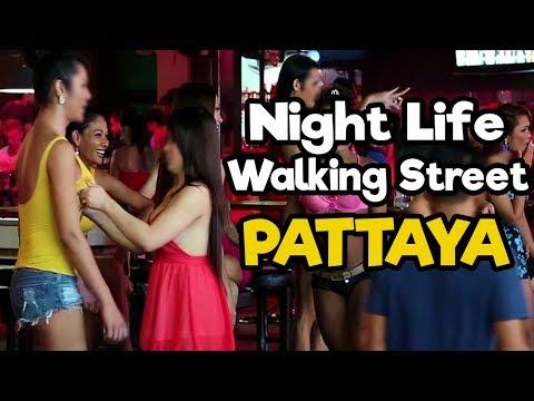Night Life at Walking freeway Pattaya, Thailand