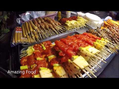 Toll road Food in Pattaya walking motorway , Thailand