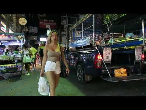 Strolling Avenue Pattaya Metropolis Thailand