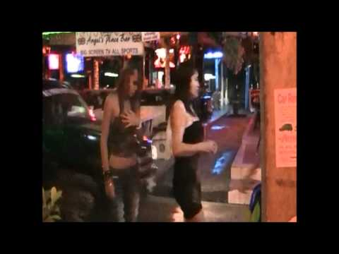Pattaya Nightlife Soi 7 Shut to Seaside Boulevard in front of Tequila Reef Restaurant