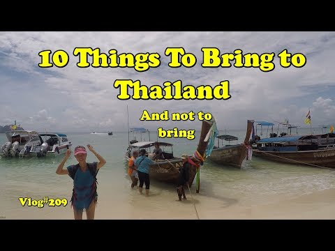 10 issues to lift and now now not lift to Thailand