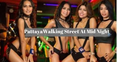 4K Pattaya Nightlife II Strolling Boulevard At Nighttime II Thailand Nightlife