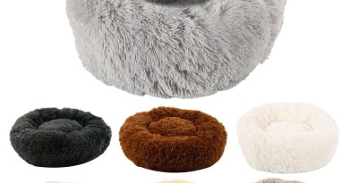 Hot Long Plush Dog Bed Winter Warm Round Sleeping Beds Soild Color Soft Pet Dogs Cat Mat Cushion Dropshipping